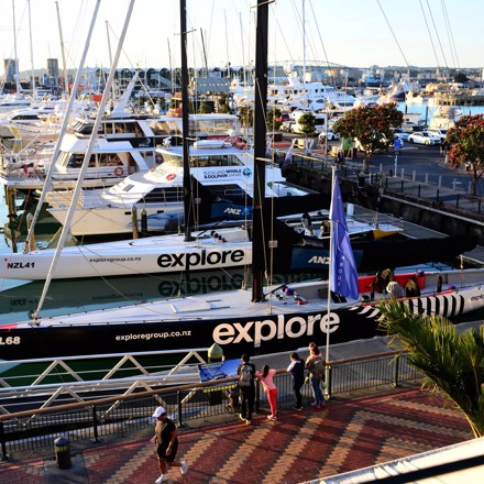 Explore sailing yachts docked at the Auckland Viaduct Harbour
